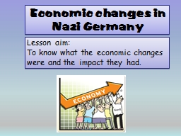 Economic changes in Nazi Germany