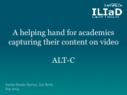 A helping hand for academics capturing their content on