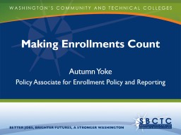 Making Enrollments Count