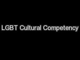 LGBT Cultural Competency