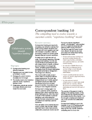 We define correspondent banking as the banking service