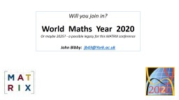 Will you join in? World  Maths  Year  2020