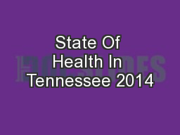 State Of Health In Tennessee 2014