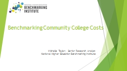 Community  College  Benchmarking: