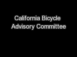California Bicycle Advisory Committee