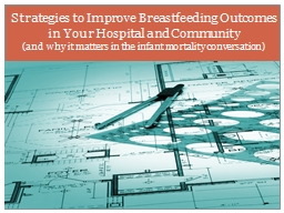 Strategies to Improve Breastfeeding Outcomes in Your Hospital and Community
