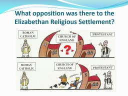 What opposition was there to the Elizabethan Religious Settlement?