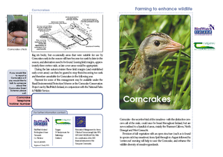 For further information contact Corncrake  the secreti
