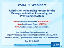 eSHARE Webinar:  Jurisdiction Onboarding Process for the PowerPoint PPT Presentation
