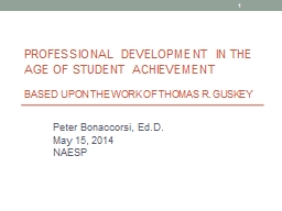 Professional Development In The Age Of Student