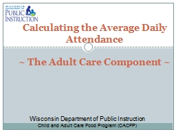 Calculating the Average Daily Attendance