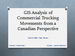 GIS  Analysis of Commercial