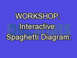 WORKSHOP: Interactive Spaghetti Diagram: