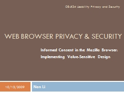 Web Browser Privacy & Security