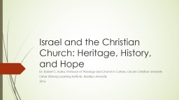 Israel and the Christian Church: Heritage, History, and Hope