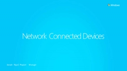 Network Connected Devices