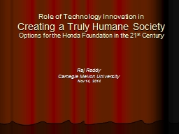 Role of Technology Innovation in