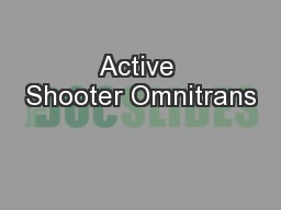 Active Shooter Omnitrans