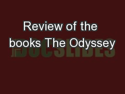 Review of the books The Odyssey