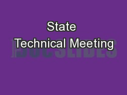 State Technical Meeting