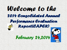 Welcome to the 2014 Consolidated