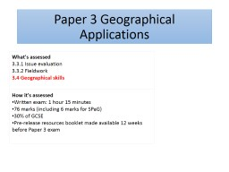 Paper 3 Geographical Applications
