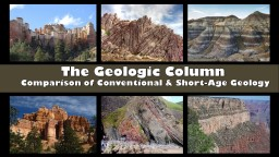 The Geologic Column Comparison of Conventional & Short-Age Geology