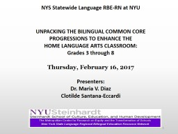 1 NYS Statewide Language RBE-RN at NYU PowerPoint PPT Presentation