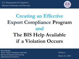 Creating an Effective Export Compliance