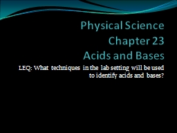 Physical Science  Chapter 23
