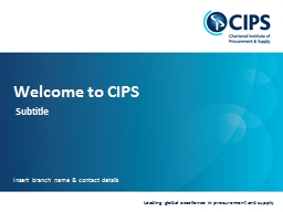 Welcome to CIPS Subtitle