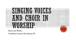 Singing voices and choir in worship