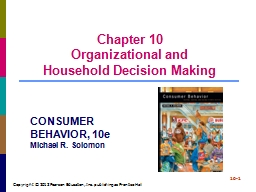 Chapter 10 Organizational and