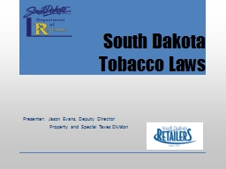 South Dakota Tobacco Laws