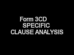 Form 3CD    SPECIFIC CLAUSE ANALYSIS