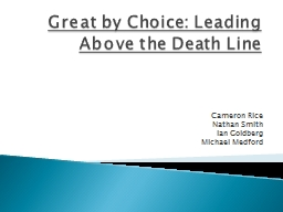 Great by Choice: Leading Above the Death Line