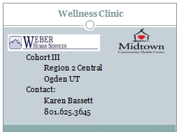 Wellness Clinic 	 	Cohort III PowerPoint PPT Presentation