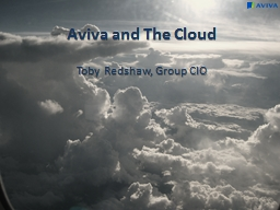 Aviva and The Cloud Toby PowerPoint PPT Presentation