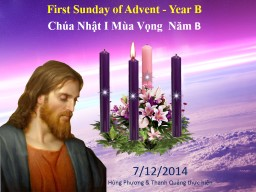 First Sunday of Advent - Year B