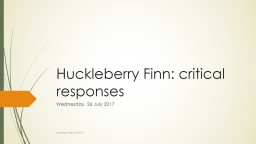 Huckleberry Finn: critical responses