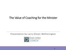 The Value of Coaching for the Minister