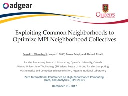 Exploiting Common Neighborhoods to Optimize MPI Neighborhood Collectives