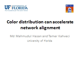 Color distribution can accelerate network alignment