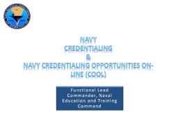 Navy  Credentialing  &
