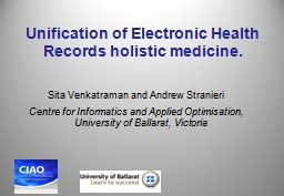 Unification of Electronic Health Records holistic medicine. PowerPoint Presentation, PPT - DocSlides