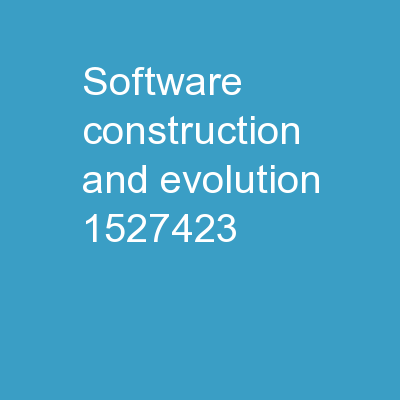 Software Construction  and Evolution -