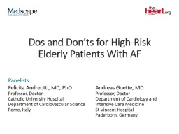 Dos and Don�ts for High-Risk Elderly Patients With AF