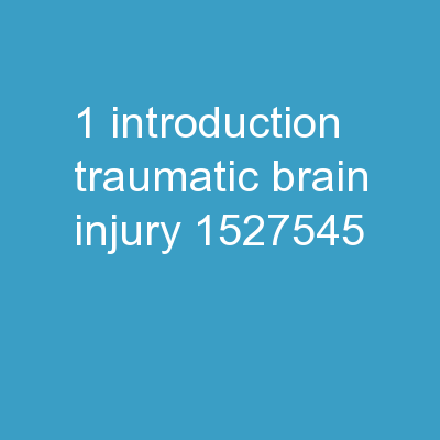 1 Introduction: Traumatic Brain Injury