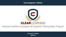 National Certified Investigator & Inspector Training Basic Program