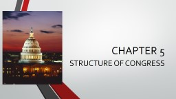 CHAPTER 5 STRUCTURE OF  CONGRESS